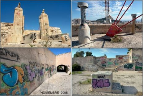 Abandono del Castillo de San Fernando en Alicante