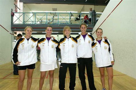 El equipo femenino de squash de la Comunidad Valenciana