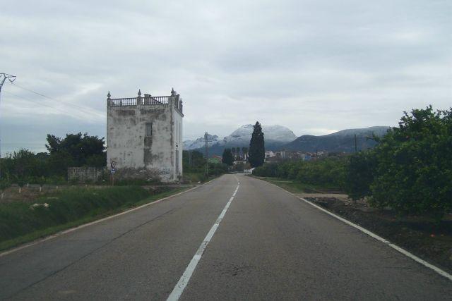 la Serra de Corbera vista desde Benicull