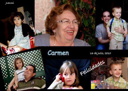 Carmen, Felicidades
