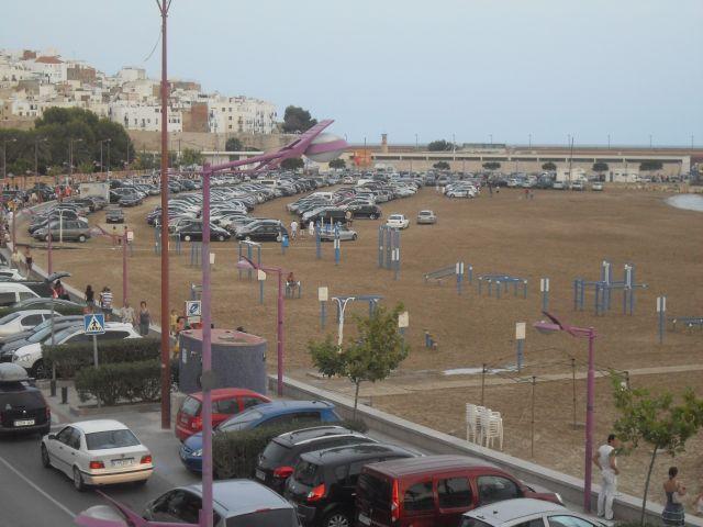 Playa - parking en Peñíscola