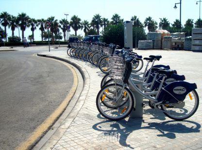 Bicicletas, en la playa