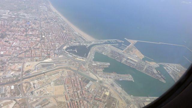 Puerto Valencia desde el aire.