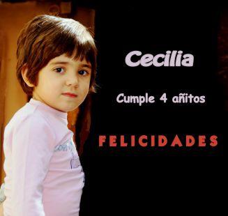Cecilia, cumple 4 años