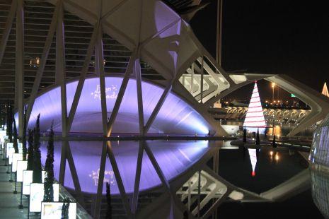 Ciudad la ciencias en Navidad