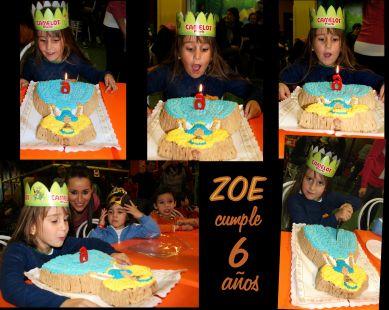 Zoe cumple 6 años, Felicidades