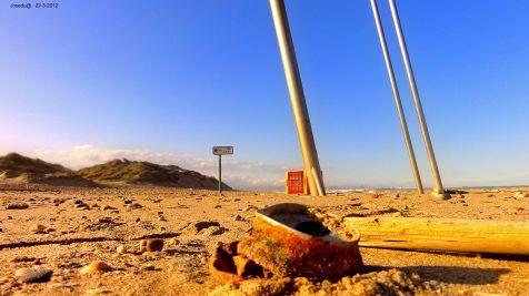 Playa del Saler sucia.
