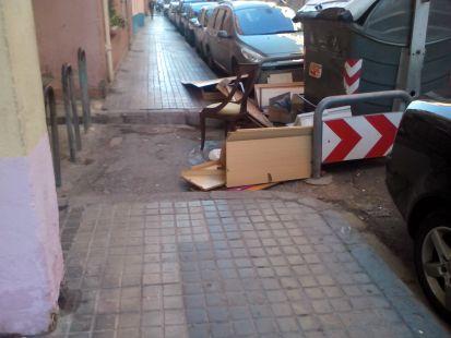 Muebles en la calle