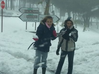 nieve en cumbre gran canaria