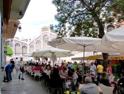 Mercat Central, peatonal